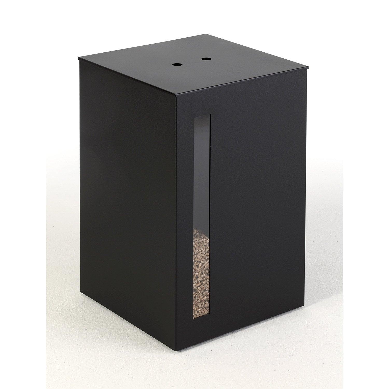 Réservoir à granulés noir DIXNEUF Titan l.40 x H.63 cm