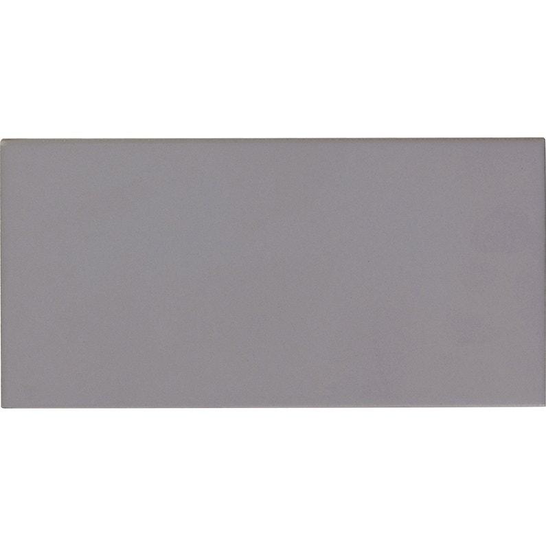 Faïence mur gris galet n°5 mat l.10 x L.20 cm, Astuce