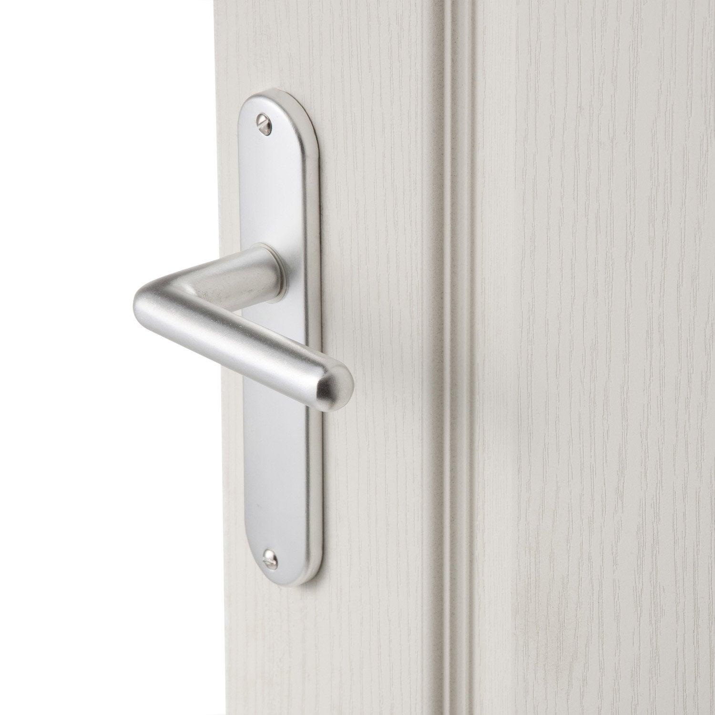 2 poign es de porte aby sans trou aluminium 165 mm. Black Bedroom Furniture Sets. Home Design Ideas