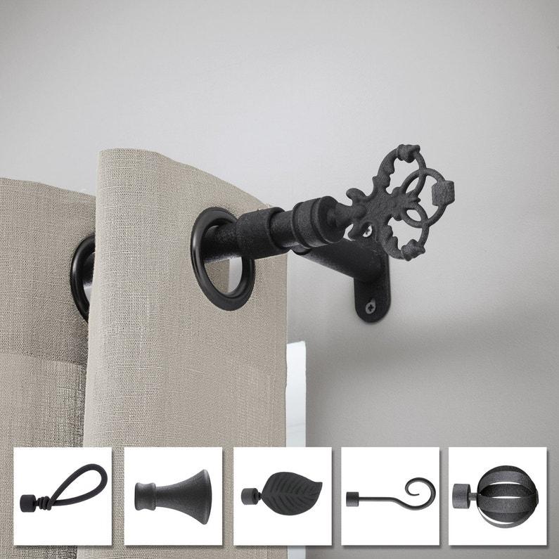tringle rideau cosy noir brut 300 cm inspire leroy merlin. Black Bedroom Furniture Sets. Home Design Ideas