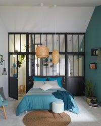 une cloison qui bouge avec cette porte coulissante leroy merlin. Black Bedroom Furniture Sets. Home Design Ideas