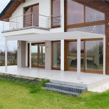 Pergola autoportante cadix, aluminium blanche, 18 m²