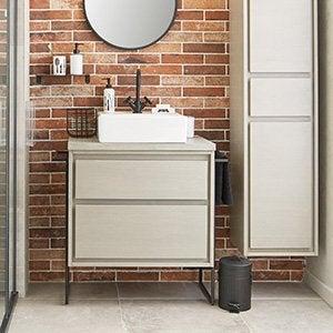 Meuble salle de bain et vasque leroy merlin - Dalle autocollante salle de bain ...