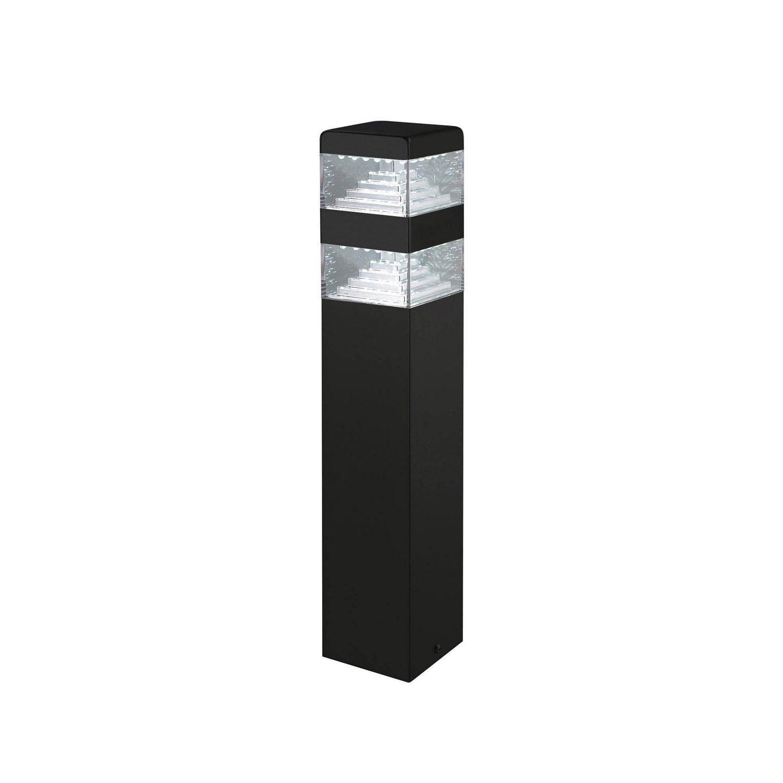 borne ext rieure pyramide led int gr e 6 4 w 900 lm noir lumihome borne ext rieure. Black Bedroom Furniture Sets. Home Design Ideas