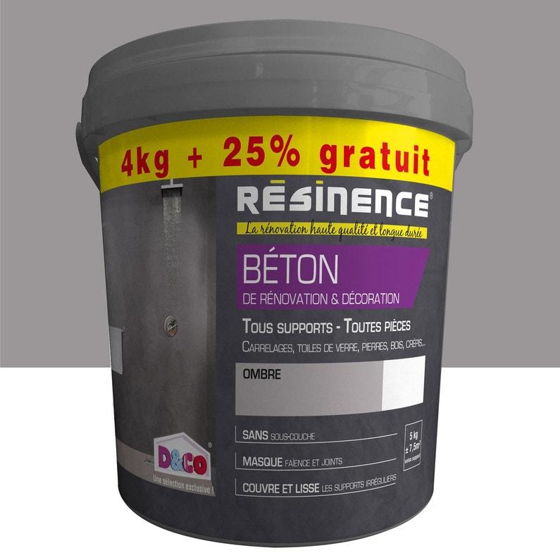 Enduit Béton De Rénovation Et Décoration Resinence Ombré 4 Kg 25 Gratuit