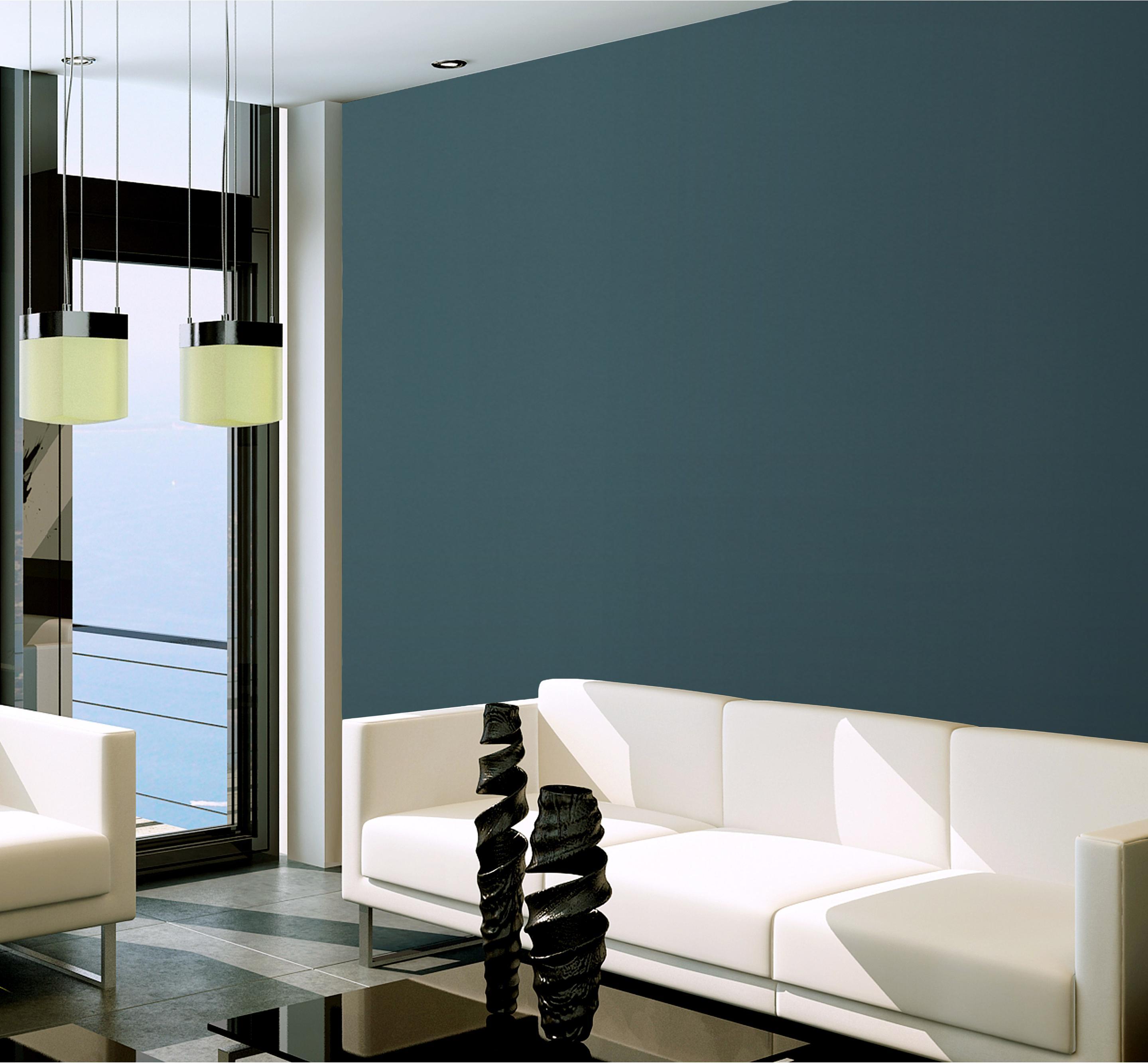 Papier peint vinyle DIAMANT VELOURS bleu
