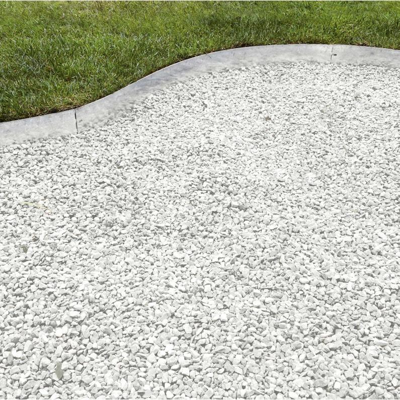 Bordure à planter Metal acier galvanisé gris, H.12.5 x L.118 cm