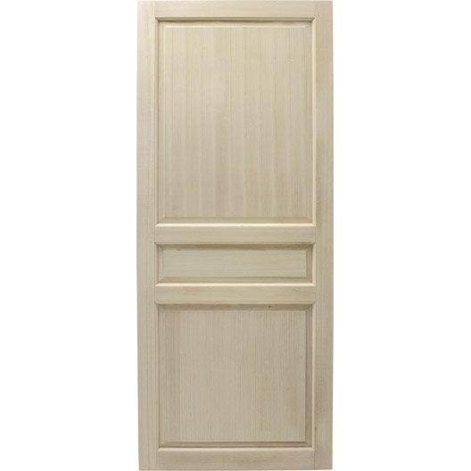 Porte coulissante paulownia plaqu e tomentosa budapest for Dimension porte 83