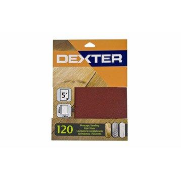 Lot de 5 feuilles abrasives DEXTER, 230 x 280 mm grains 120