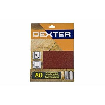 Lot de 5 feuilles abrasives DEXTER, 230 x 280 mm grains 80