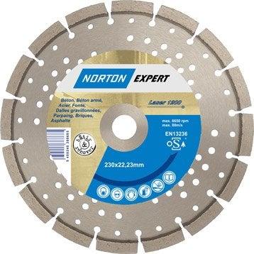 Disque diamant pour matériaux de construction NORTON, Diam.230 mm