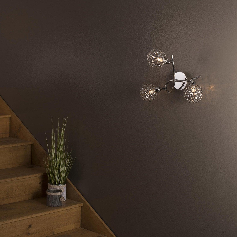 plafonnier 3 spots sans ampoule 3 x g9 chrome chroma et verrerie deva inspire 5 Luxe Plafonnier Ampoule Uqw1