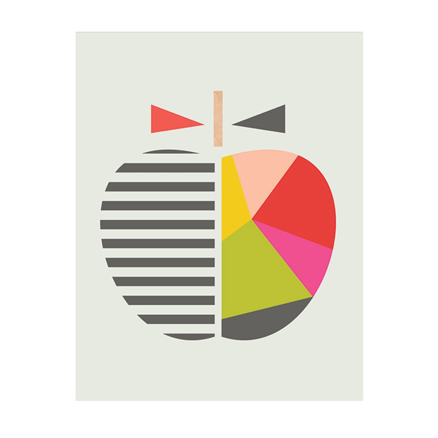 Affiche Geometric apple l.30 x H.40 cm