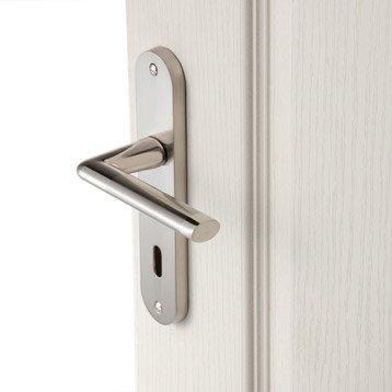 2 poignées de porte Sophie trou de clé INSPIRE, zamak, 165 mm