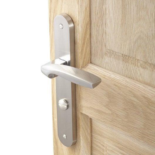 amazing poignes de porte claire zinc satin mm with plaque. Black Bedroom Furniture Sets. Home Design Ideas