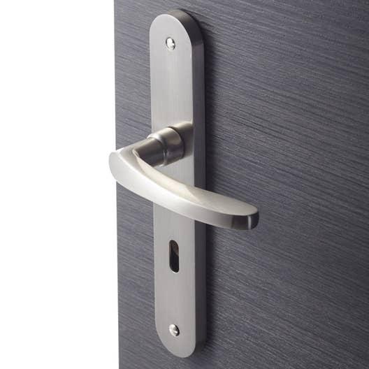 2 poignes de porte louise trou de cl inspire aluminium 195 mm