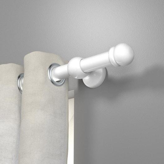 Tringle à rideau blanc brillant 150 cm INSPIRE | Leroy Merlin