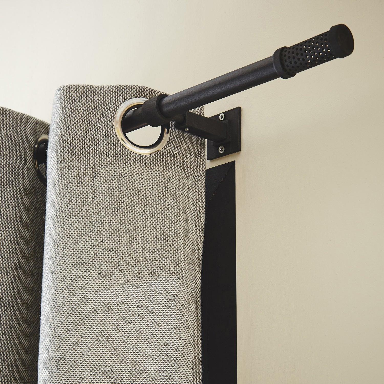tringle rideau factory noir brut 150 cm inspire leroy merlin. Black Bedroom Furniture Sets. Home Design Ideas