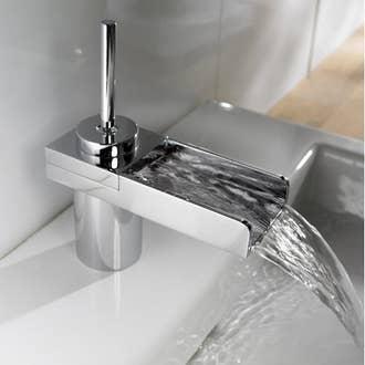 Robinet de salle de bains elot mitigeur lavabo bec bas for Robinetterie salle de bain ikea