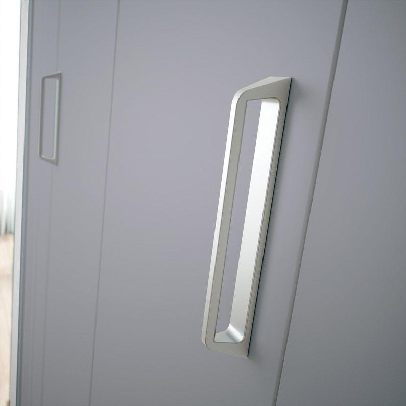 Porte De Placard Pliante Gris Kazed L70 X H210 Cm