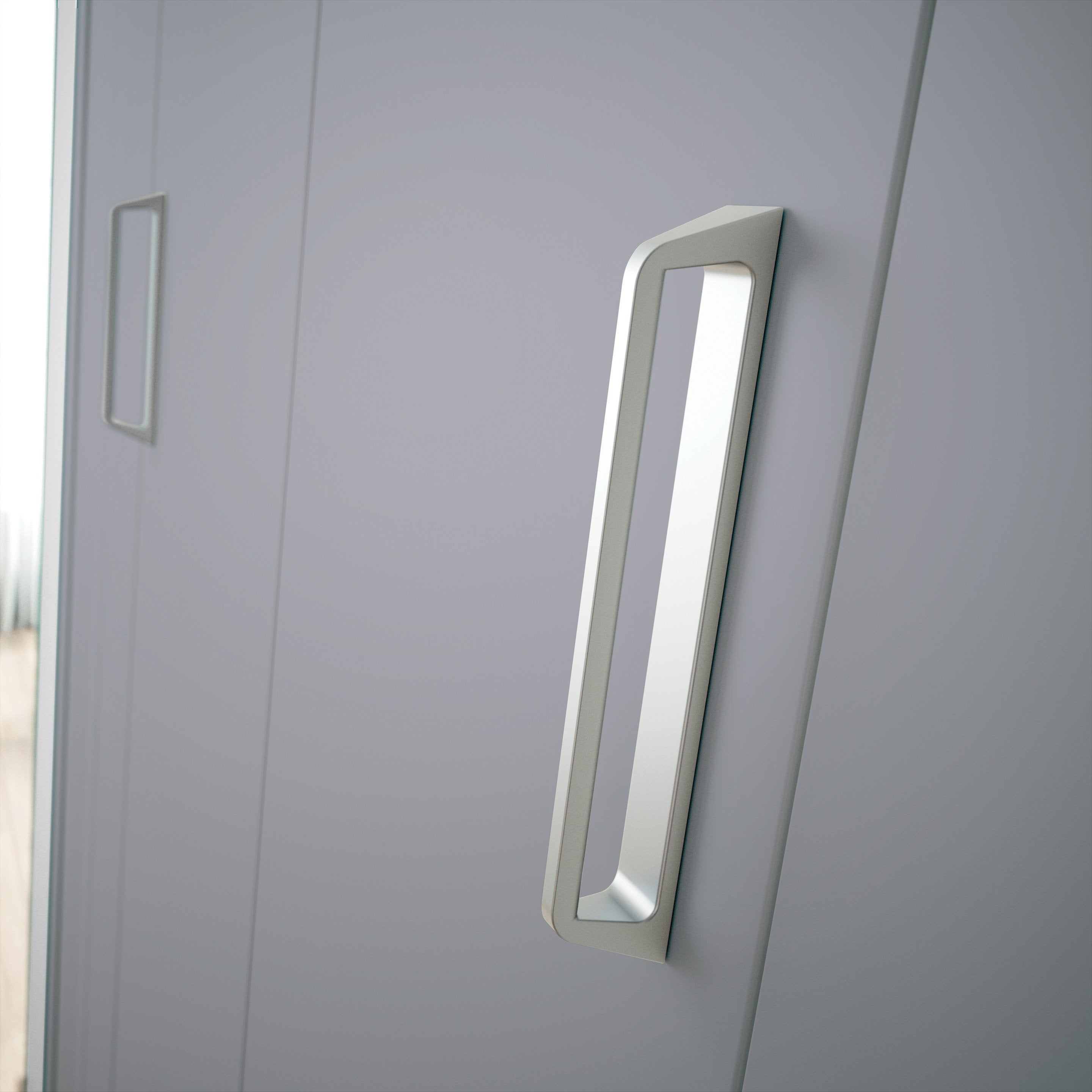 Merveilleux ... Porte De Placard Pliante Gris KAZED L.70 X H.210 Cm