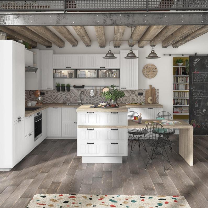 Porte De Cuisine Toscane Blanc Delinia Id H 76 5 X L 59 7 Cm