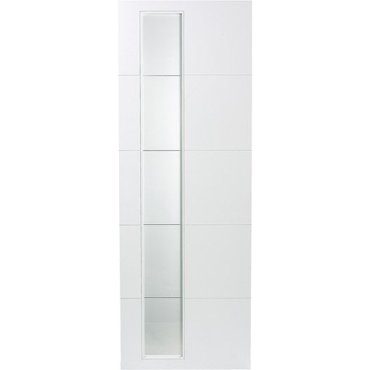 Porte coulissante rev tu blanc alaska artens 204 x 83 cm - Porte coulissante artens leroy merlin ...