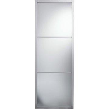 Porte coulissante aluminium gris Aspen ARTENS, H.204 x l.83 cm