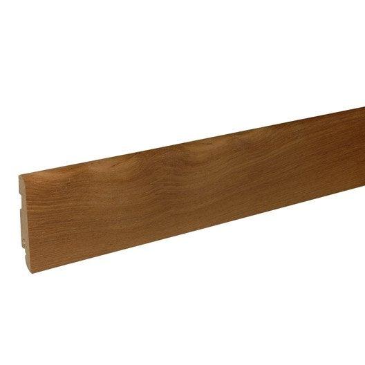 plinthe parquet plaqu e teck cm x x mm leroy merlin. Black Bedroom Furniture Sets. Home Design Ideas