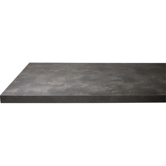 Plan de travail droit stratifi pierre lave 300 x 64 p for Agglomere hydrofuge 38 mm