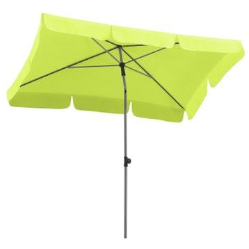 parasol rectangulaire vert