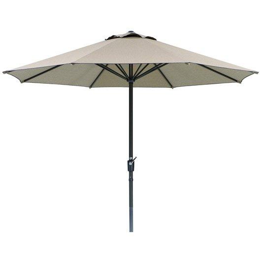 parasol droit korsika naturel octogonal x cm leroy merlin. Black Bedroom Furniture Sets. Home Design Ideas