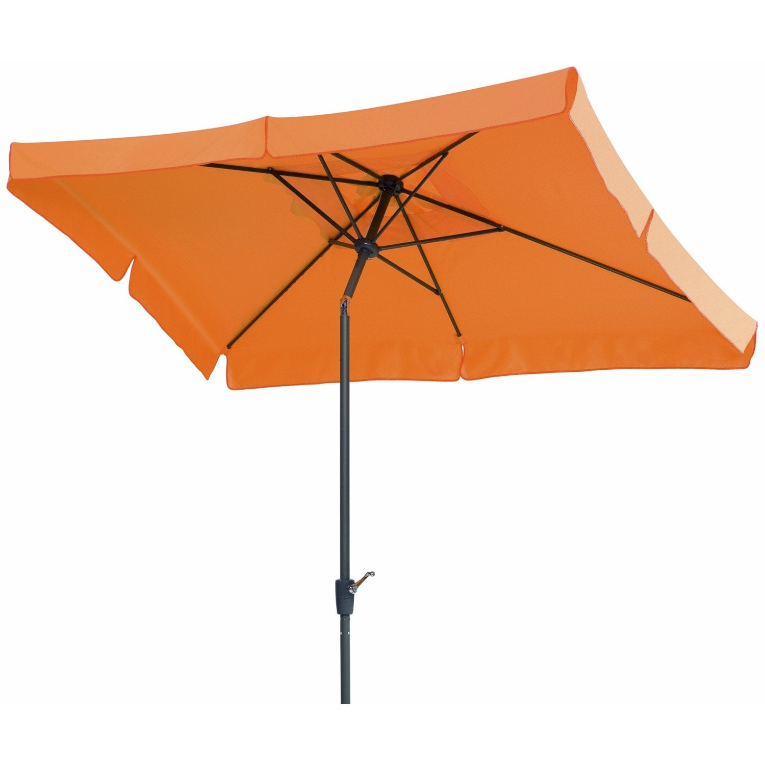 parasol droit new york mandarine rectangulaire x cm leroy merlin. Black Bedroom Furniture Sets. Home Design Ideas