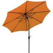 Parasol droit Harlem mandarine octogonal, L.270 x l.270 cm