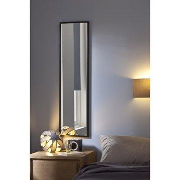 Miroir design industriel miroir mural sur pied leroy for Miroir rectangulaire argent
