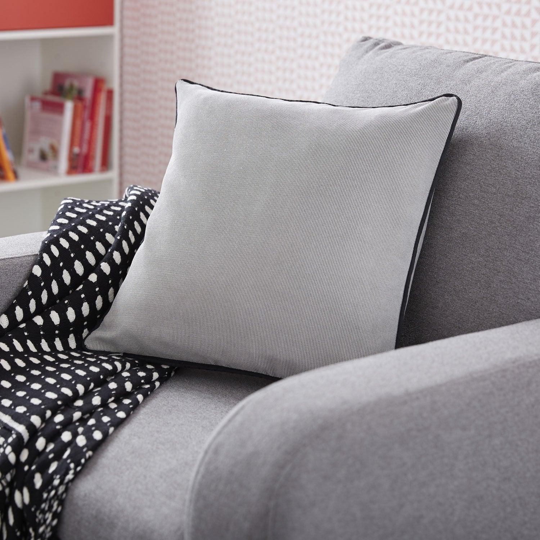 Coussin Sugar INSPIRE, gris et noir l.40 x H.40 cm