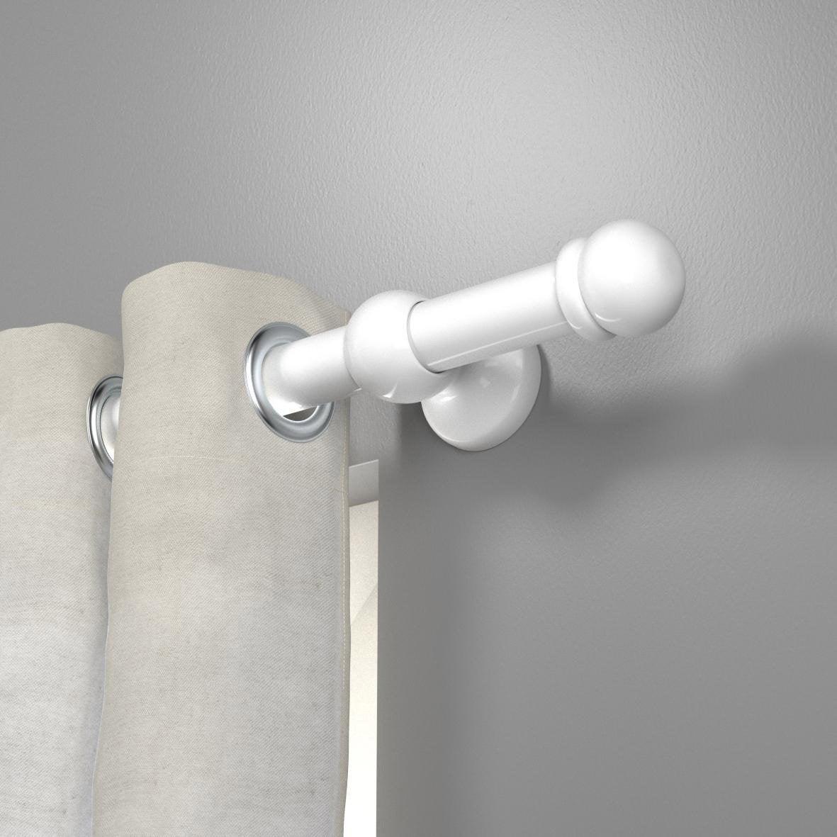Support tringle à rideau, 28 mm blanc brillant INSPIRE   Leroy Merlin