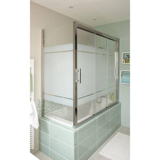pare baignoire int gral x cm verre de s curit s rigraphi elyt leroy merlin. Black Bedroom Furniture Sets. Home Design Ideas