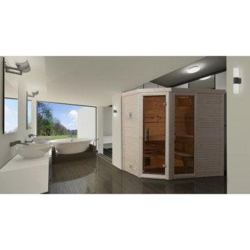 Sauna traditionnel 3 places, modèle Cubilis 1 OS WEKA, livraison incluse
