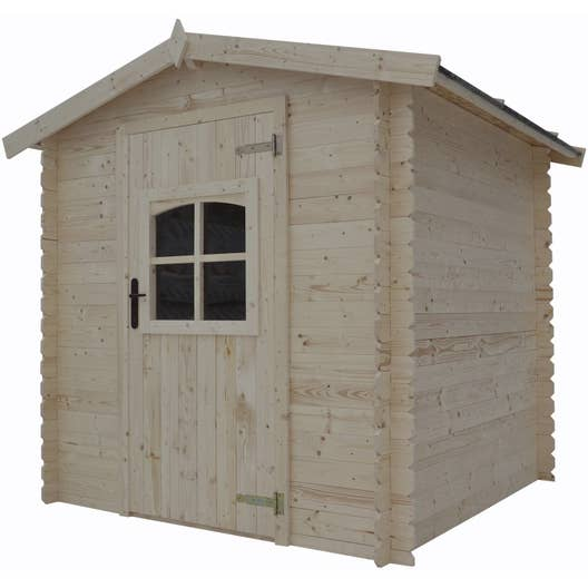 Abri de jardin bois courtine 3 1 m mm leroy merlin for Garage bois mr bricolage