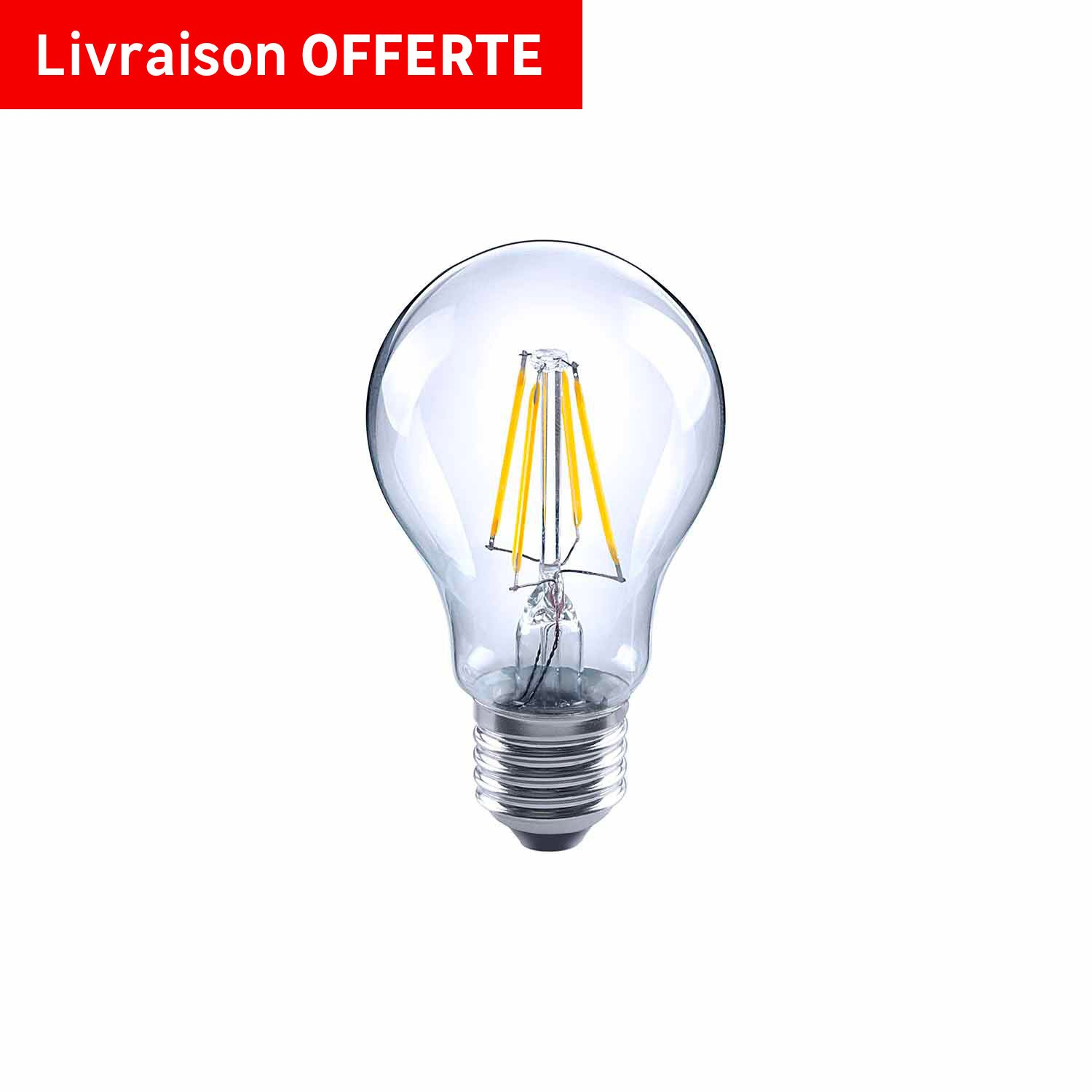 ampoule filament standard led 7w 806lm quiv 60w e27 4000k 360 lexman leroy merlin. Black Bedroom Furniture Sets. Home Design Ideas