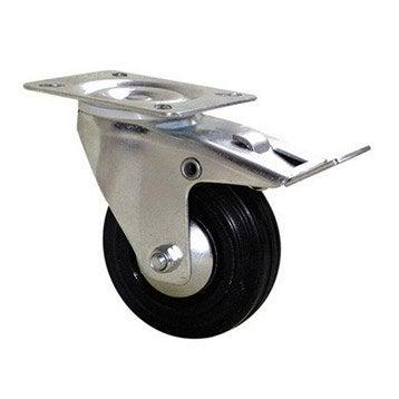 Roulette pivotante à freins à platine, Diam.125 mm