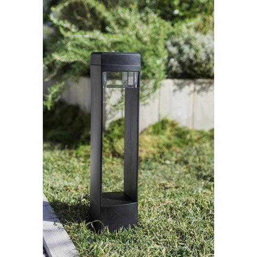 Lot de 3 balises solaire so500 25 lm noir xanlite leroy for Eclairage exterieur noir