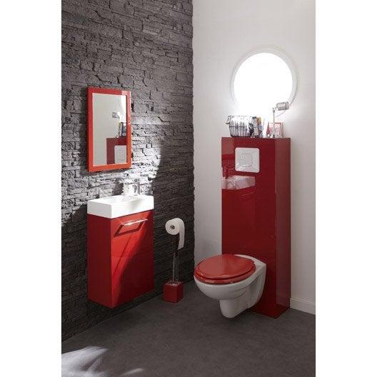 abattant rouge bois compress sensea young leroy merlin. Black Bedroom Furniture Sets. Home Design Ideas