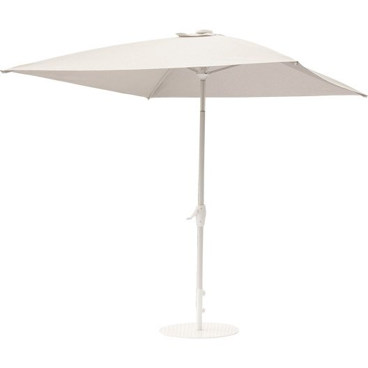 parasol droit v nus gris carr x cm leroy merlin. Black Bedroom Furniture Sets. Home Design Ideas