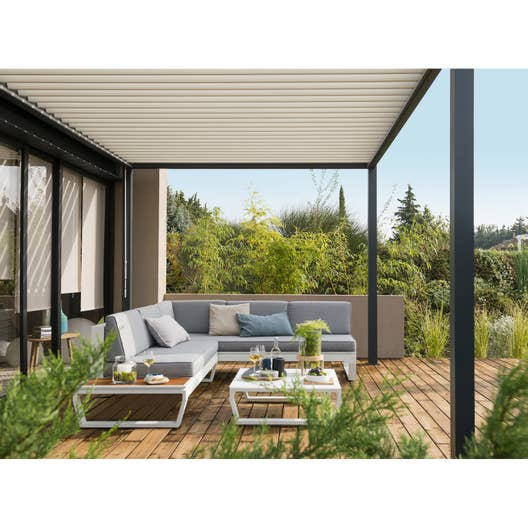 Emejing Salon De Jardin Blanc Aluminium Images - Awesome Interior ...
