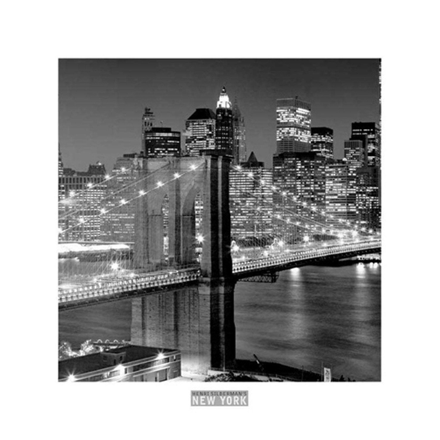 Affiche Brooklyn bridge l.30 x H.30 cm