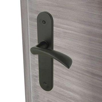 2 poignées de porte Azur sans trou INSPIRE, aluminium, 165 mm