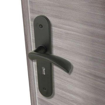 2 poignées de porte Azur trou de clé INSPIRE, aluminium, 165 mm