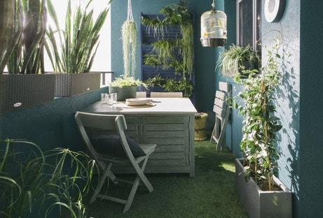 Un balcon vert pour se créer un coin de paradis